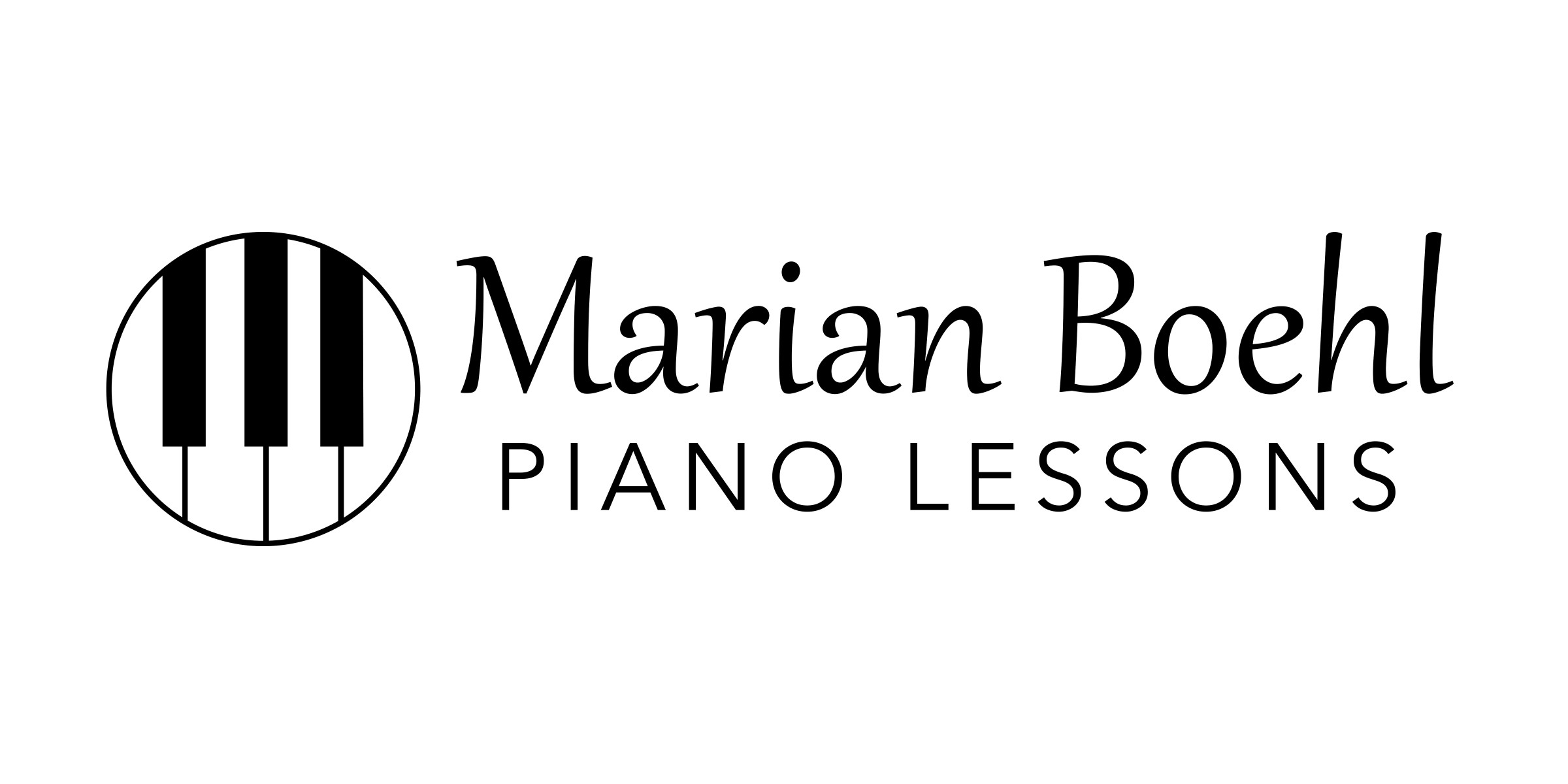 Marian Boehl, piano lessons